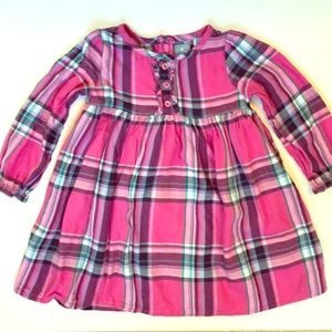 Baby Gap toddler girl flannel dress, size 2